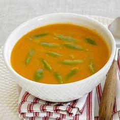 Sopa de tomate e feijão verde c ovos escalfados by Equipa Bimby on www.mundodereceitasbimby.com.pt