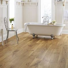 natural bathroom flooring ideas - Consider Real Copse for Lasting Beauty. Amtico Flooring Kitchen, Kardean Flooring, Vinyl Flooring Bathroom, Vinyl Wood Flooring, Wood Floor Bathroom, Oak Bathroom, Modern Bathroom Tile, Natural Bathroom, Luxury Vinyl Flooring
