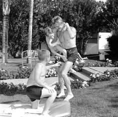 Bill Anderson Kirk Douglas and Sons, Michael and Joel, 1955-56