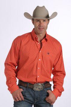 Cinch® Men's Paisley Modern Fit Button Shirt - Red #cinch #mens ...