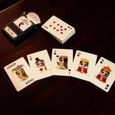 HootSuite playing cards.