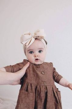 Items similar to Baby Girls Boho Linen Dress-Baby Boho Dress-Girls Linen Dress-Girls Pocket Dress-shabby chic-vintage baby-Linen Baby clothes-sz on EtsyCheck out this Stylish fall kids clothesKids Fashion Clothes - February 20 2019 atHair And Beauty Baby Girl Dresses, Baby Outfits, Kids Outfits, Baby Girls, Dress Girl, Infant Dresses, Toddler Girls, Headband Bebe, Baby Girl Fashion