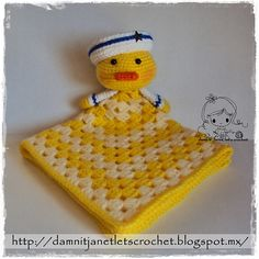 Ravelry: Sailor Duck Security Blanket pattern by Janet Carrillo.