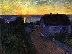 Edvard Munch - Sunrise as Asgardstrand