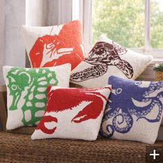 sea life pillows!! a must for the Cape @Sue Ryan