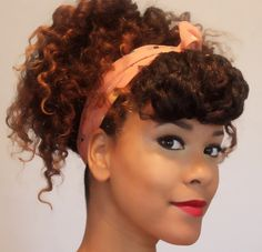 updo from a twist out 3