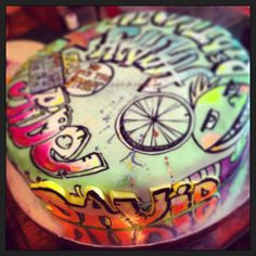 Splatter And Graffiti Cake Designs