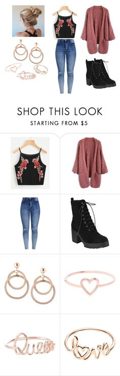 """Untitled #21"" by beastly-10 on Polyvore featuring Chicwish and Love Is"