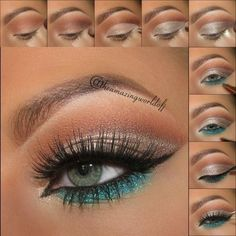 Look summer eye Make-up is an activity that gives an attractive appearance for various purposes, Pretty Makeup, Love Makeup, Makeup Inspo, Makeup Inspiration, Unique Makeup, Makeup Geek, Makeup Goals, Makeup Hacks, Makeup Tips