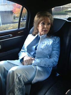 Loretta Lynn enroute to the White House to receive the Presidential Medal of Freedom.  It is the highest award a civilian can receive. Wednesday, November 20, 2013.
