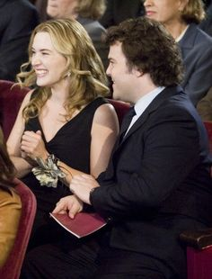 Still of Kate Winslet and Jack Black in The Holiday