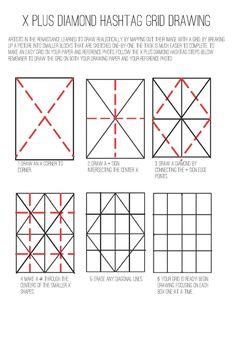 The Helpful Art Teacher: How to create and use a drawing grid Drawing Grid, Basic Drawing, Drawing Tips, Drawing Techniques, Create Drawing, Drawing Ideas, Art Handouts, 6th Grade Art, Art Worksheets