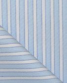 "Pima Cotton Charvet Stripe 60"" Fabric: Blue & White"