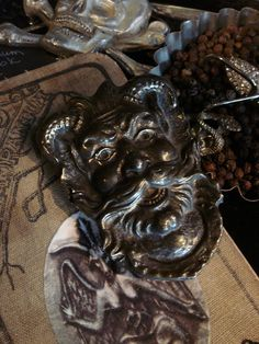 Hey, I found this really awesome Etsy listing at https://www.etsy.com/listing/112993557/vintage-bacchus-satyr-devil-buckle-at