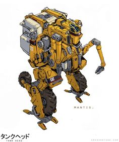 Construction and Transportation Vehicle MANTIS, Emerson Tung on ArtStation at http://www.artstation.com/artwork/construction-and-transportation-vehicle-mantis
