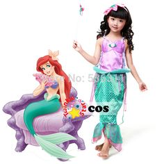 Aliexpress.com : Buy 2015 child The little Mermaid kids Princess Ariel dress girls birthday party dress Ariel princess cosplay costume for girls from Reliable costume national dress suppliers on Twinkle Twinkle Star  | Alibaba Group