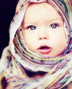 Quite possibly the most beautiful baby I have ever seen-  Blue eyes