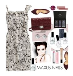 """""""Maxus Nails 4/1"""" by merima-kopic ❤ liked on Polyvore featuring bellezza, Anna Sui, Christian Dior, Charlotte Olympia, nails, brand, maxusnails e maxus"""