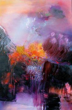 """""""Sur le Chemin de Compostelle"""" by Gerard Stricher - oil painting on canvas"""