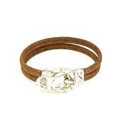 Uniquely Dark Buckle Bracelet - Lufli Cork Bracelet #cork #lufli