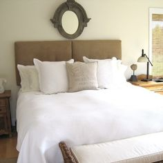 King Upholstered Headboard Two Pieces Wall Mounted - contemporary - bedroom - vancouver - Wall Huggers