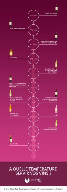 Infographie Quelle température de service pour chaque vin - toutlevin.com