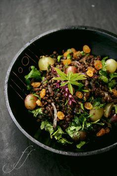 lentils and grape salad (in italian)