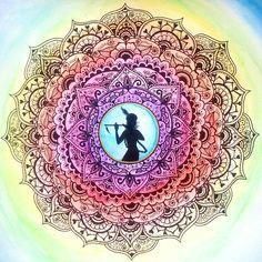 Krishna Mandala / Artist: Anna Kuzmina Krishna Leela, Krishna Radha, Krishna Love, Chakras, Krishna Avatar, Stage Yoga, Lord Jagannath, Lord Vishnu Wallpapers, Lord Krishna Images