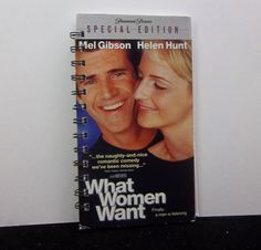 Recycled Notebook From What Women Want VHS Box by RecycledJournals, $8.00