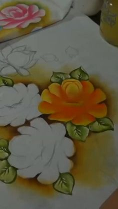 Basic Painting, Painting Lessons, Diy Painting, Art Lessons, Easy Paintings, Watercolor Paintings, Bed Sheet Painting Design, Neon Nail Colors, Homemade Face Paints