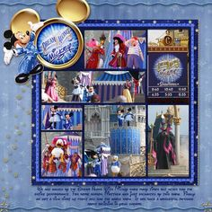 Dream Along With Mickey Disney scrapbook layout