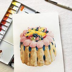 Instagram Pastry Art, Food Art, Sweet, Instagram, Paintings, Candy, Paint, Painting Art, Painting