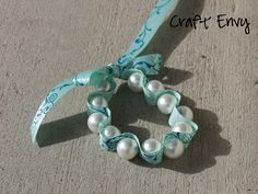 Craft Envy: Pearls and Ribbon Bracelet