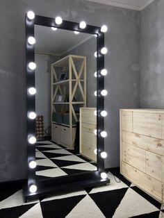 Floor Mirror / Гримерное зеркало BLACK STAR 180/90 - черный, напольное зеркало, зеркало на колесиках, зеркало