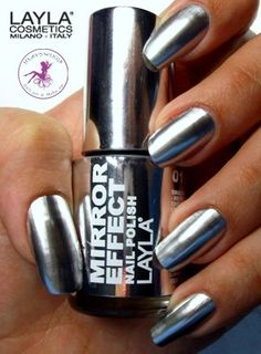 I've only seen this look with nail stickers or foil before this. A *polish* that makes it so shiny it looks chrome!!