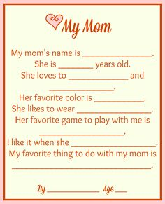 Mother's Day Printable - MamaMommyMom