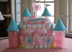 princess castle with bottle turrets