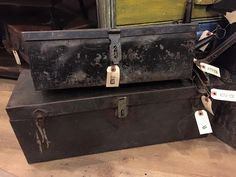 Old metal trunks #rust2914 #rustpuyallup