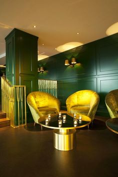 Mondrian London Hotel / interior design by Tom Dixon Sea Containers, Sea Container Homes, Restaurant Design, Restaurant Bar, Restaurant Exterior, Design Hotel, Wallpaper Magazine, Hotel Interiors, Parquet Flooring