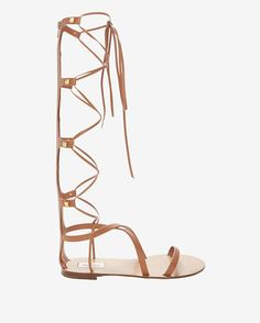 Valentino Flat Knee High Gladiator Sandal | Shop IntermixOnline.com