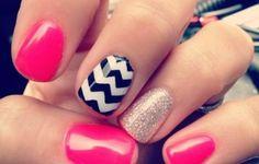 Hot Pink Acrylic Nails Tumblr   Nail Art Designs Short Easy
