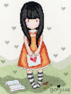 """""""I Gave You My Heart"""" cross stitch kit"""