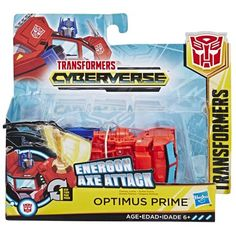 Transformers Cyberverse Action Attackers: Changer Optimus Prime Action Figure Toy by Hasbro Optimus Prime, Cartoon Network, Age, Transformers Cars, Transformers Cybertron, Transformers Bumblebee, One Step, Animation Series, Bingo