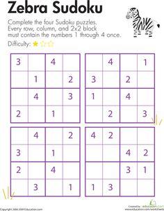 Solve a Sudoku or KenKen! | Education.com