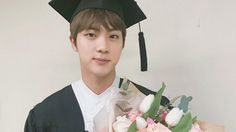 BTS Celebrates Jin's Graduation From University via @soompi
