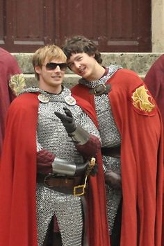 Bradley and Alex on the set of series 5