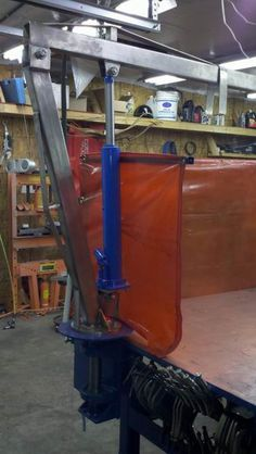 Hoist on work bench, for lifting heavy things into position    Another welding table, Unique - WeldingWeb™ - Welding forum for pros and enthusiasts