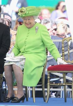 Queen Elizabeth II at Bayeux Cemetary during D-Day 70 Commemorations on June 6, 2014 in Bayeux, France.