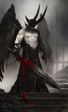 Fallen Angel of the Broken Gate by QuinnSimoes
