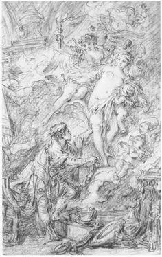 Fragonard's sketch for 'Pygmalion and Galatea'